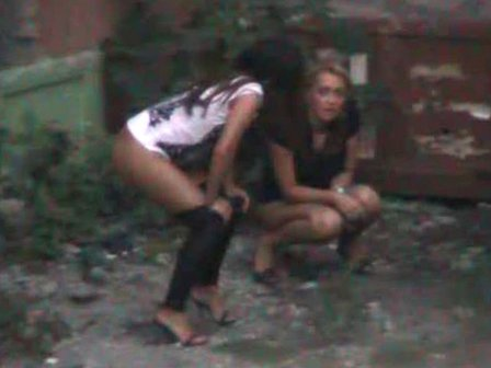 drunk girls pissing