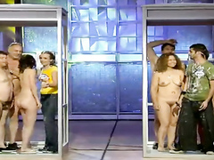 Spanish game show with lots of naked people