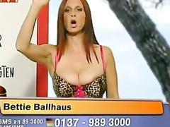 Bettie Ballhaus nipple slip on television