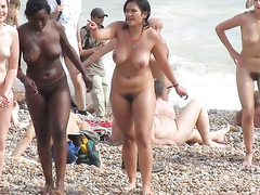 Popular day at the nude beach