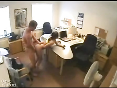 Hardcore sex and sucking all over the office
