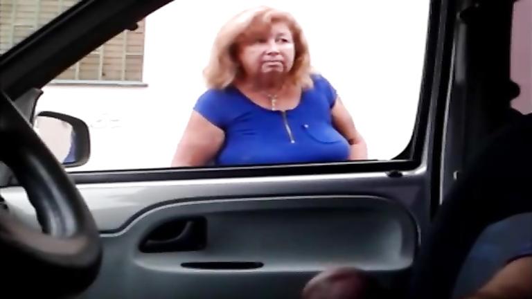 Caught Masturbating The Car