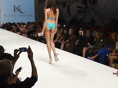 Stunning swimsuit models walk the runway