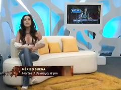 Spanish TV host has a major nipple slip