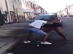 Ghetto fight with clothes torn off