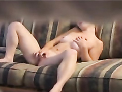 Filmed my neighbor frigging on the couch