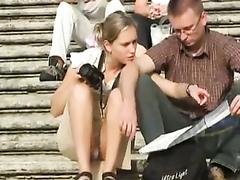 Filming her arousing little panties