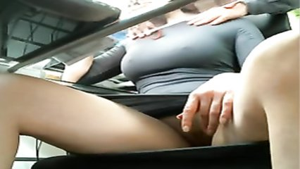 Hot Secretary Playing With Her Pussy Under The Office Table