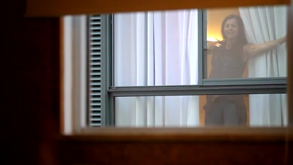 Jerking off in front of my hotel window