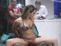 Lap dance with the transparent panties