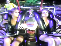Upskirts on the amusement ride