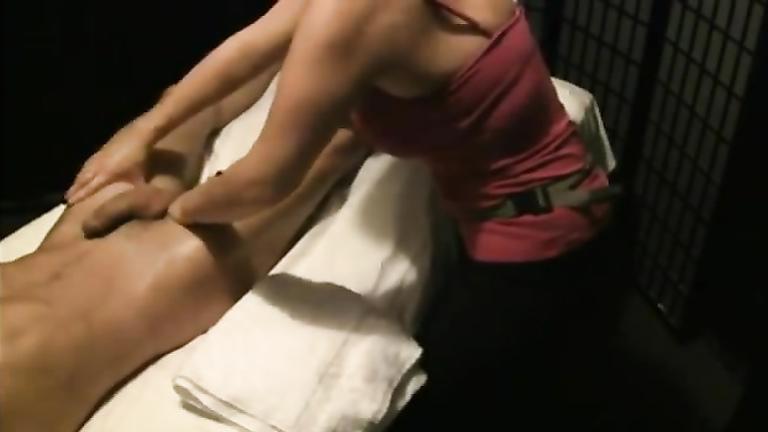 girl massaging penis