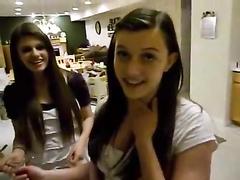 Cute girls try the cinnamon challenge