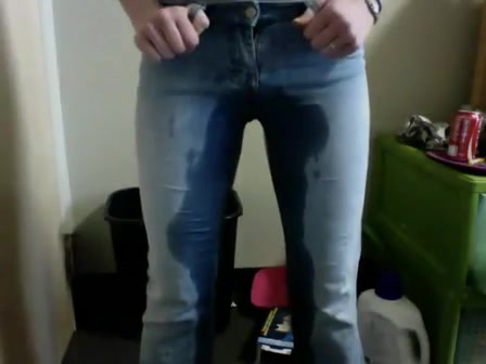 piss in jeans