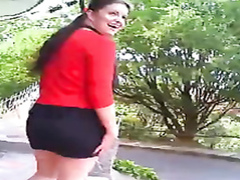 Upskirt pussy flashing in a public park