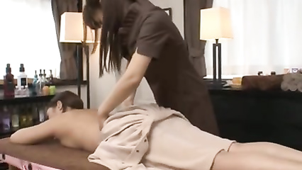 Exotic Asian massage turns into hot lesbian sex