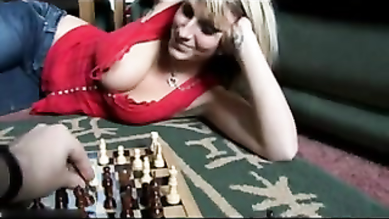 Playing chess with my tit flashing girlfriend