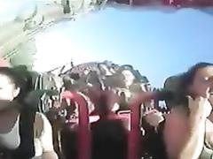Bouncy big boobs on a roller coaster cam