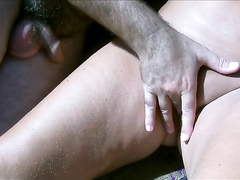 Orgasms on the beach of Maspalomas for a mature couple