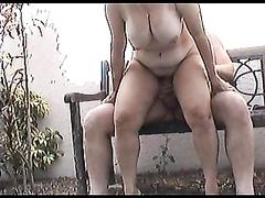 My friend's neighbors have sex in the garden