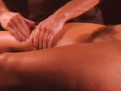 Erotic massage demonstration with gentle pussy play